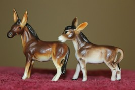 Lot of 2 Small Art Ceramic Donkeys  - $11.65