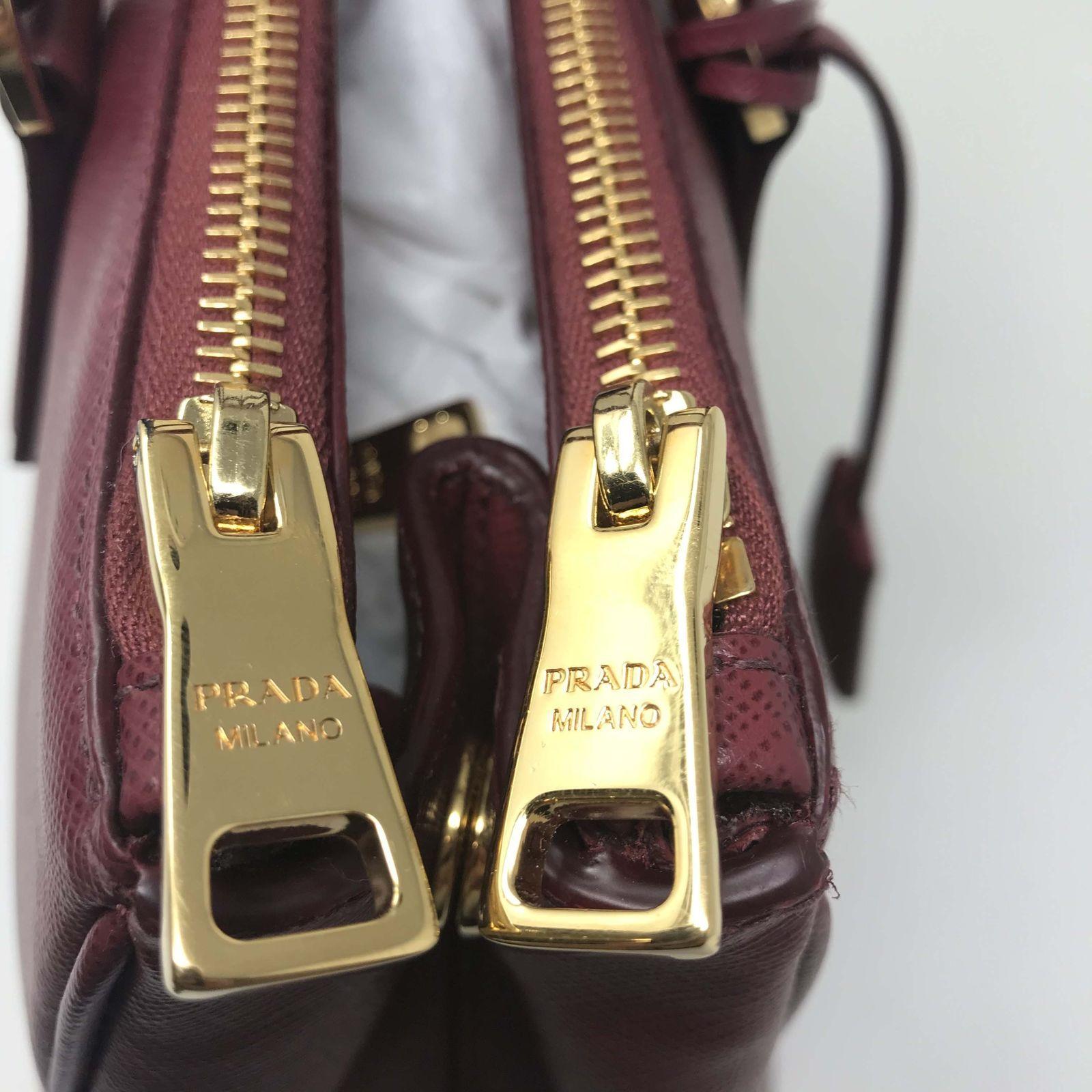 8bf1366fb4 ... Prada 1BA274 Galleria Cherry Saffiano Leather Women s Convertible Tote  Bag
