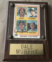 1978 Topps Lance Parrish Autographed Rookie Card In Dale Murphy Frame - $10.99