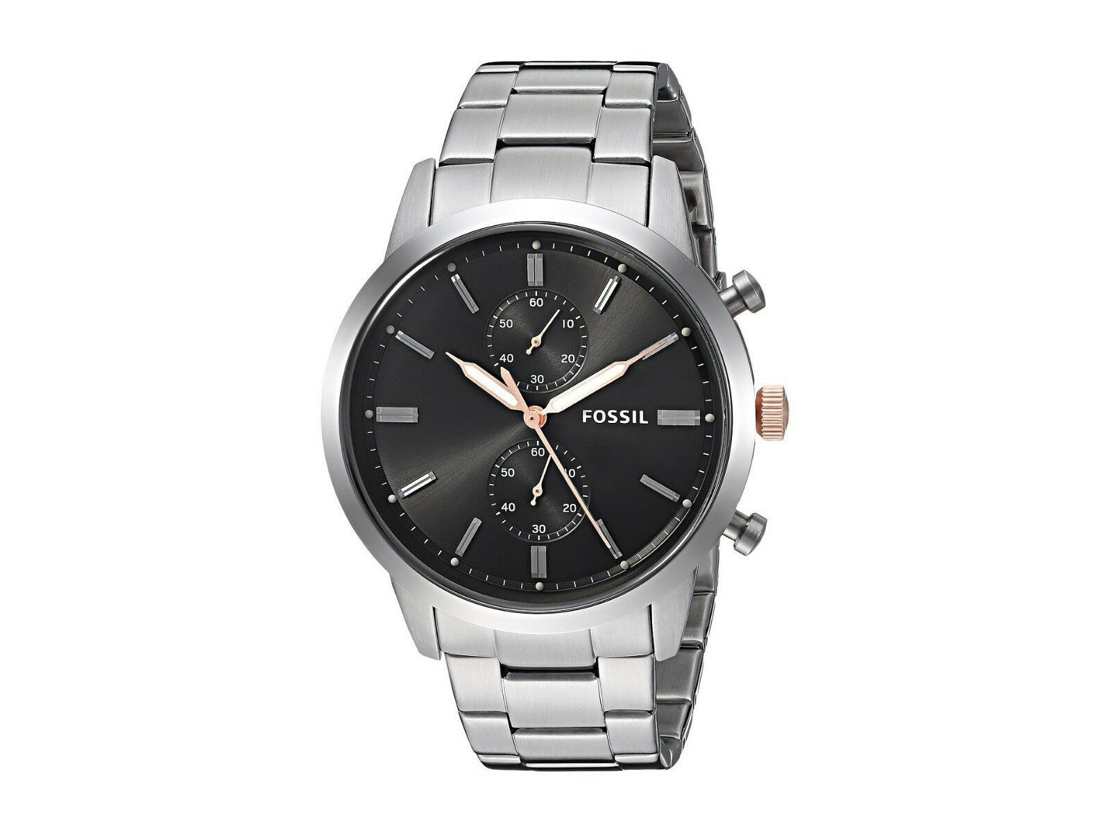 New Fossil Men's Townsman Chronograph Stainless Steel Watch Variety Color image 3