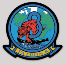 US Navy Official VP-8 Tigers 4'' Sticker - $9.89