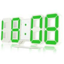 LED Digital Alarm Clocks 24 / 12 Ho color GREEN size  - $17.91
