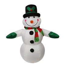 LB INTERNATIONAL 4' Inflatable Snowman with Top Hat Christmas Yard Decor... - $44.54