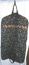 Vera Bradley Garment Bag Fishing Lures Black Retired Travel Rare Zipper Pockets - $115.78
