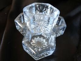 Mosser Glass Willow Blue Hexagon Salt Dip Set of 4 - $25.00