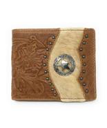 Mens Genuine Leather Cowhide Star Bifold Short Wallet in 2 Colors - $25.64
