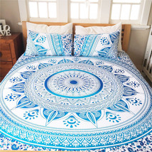 Indian Decor Mandala Tapestry Wall Hanging Hippie Throw Bohemian Ombre B... - $292,42 MXN