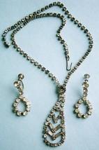 Rhinestone Necklace and Earrings, vintage - €15,82 EUR