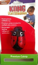 Kong Refillables Real Wood Cat Toy Black & Red Glitter Ladybug NO CATNIP - $1.99