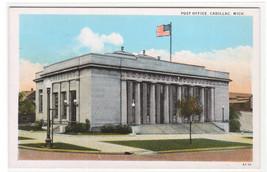 Post Office Cadillac Michigan 1920c postcard - $5.94