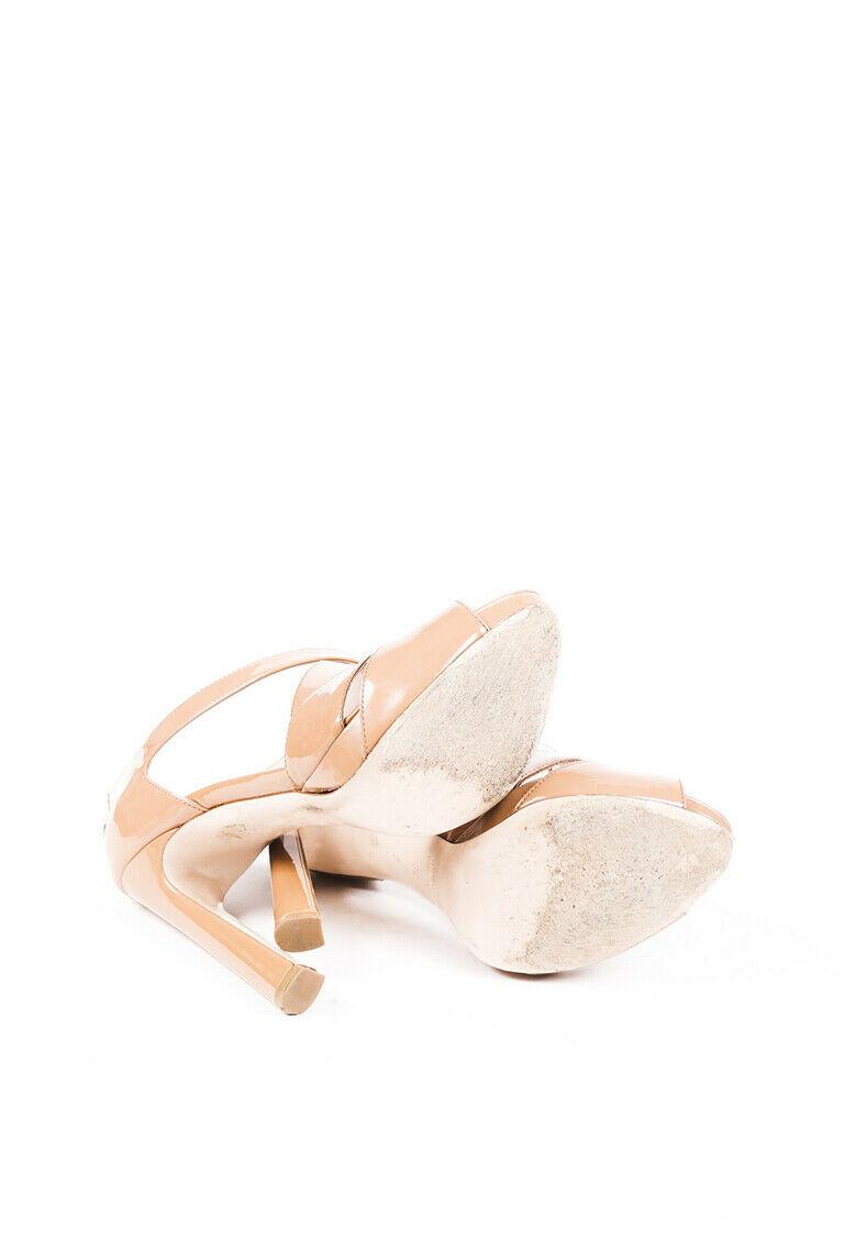 Miu Miu Patent Leather Cage Sandals SZ 38