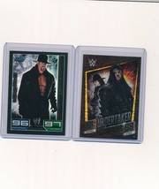 2008 2015 Topps WWE Slam Attax Foil Undertaker Lot of 2 - $5.00