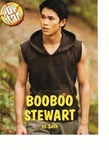 Boo Boo Stewart teen magazine pinup clipping Twilight New Moon as Seth Popstar