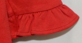 Blanks Boutique Long Sleeve Empire Waist Red Ruffle Dress Size 5T image 3