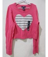 NWT GAP KIDS Girls Pink Heart Sweater Size L 10-11yrs - $13.99