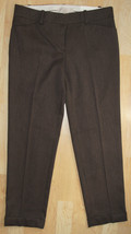 $69.50 Ann Taylor Loft Marisa Modern Trouser Womens Brown Pants Sz 4 Str... - $20.49