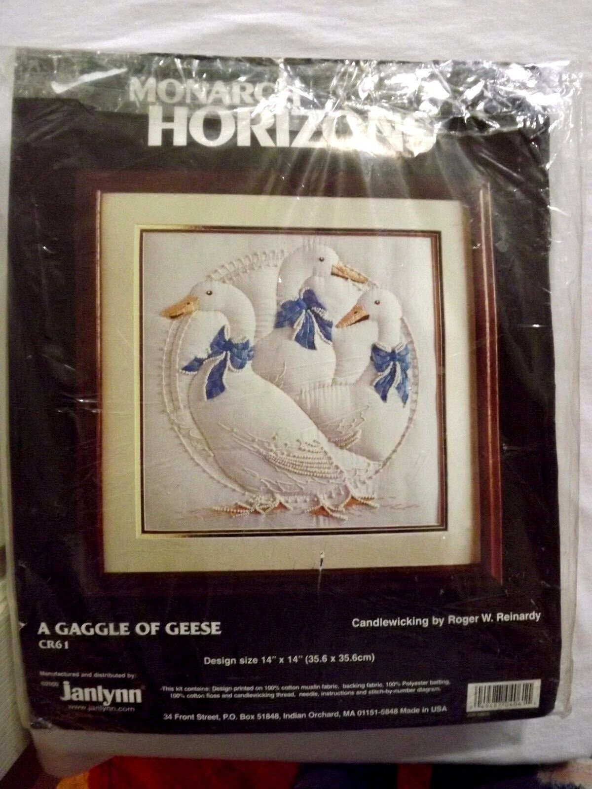 Monarch Horizons-A Gaggle of Geese Candlewicking Kit #CR61 NEW-Opened package - $13.59
