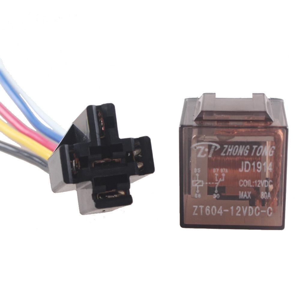 5pcs Car 12v 12 Volt Dc 80a Amp Transparent Relay  U0026 Socket
