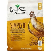 Premium Purina Beyond Limited Ingredient, Natural Dry Dog Food, Simply 9 24... - $45.80