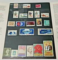 Vintage 1975 Stamp Collection Lot of 26 Old Stamps W/ USPS Folder - $28.99