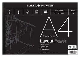 Daler-rowney 45 Gsm A4 80 Sheets Series A Layout Pad - $18.80
