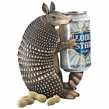 "8"" Armadillo FIGURINE BEVERAGE HOLDER Beer Resin Collectible Gift Decor ... - $41.00"
