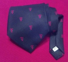 """T-Mobile Corporate Tie """"T"""" Logo Necktie Michael Bruce by Harstan Made in... - $25.89"""
