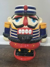 BOMBAY 2001 HOLIDAY NUTCRACKER SOLIDER CHRISTMAS COOKIE JAR - $51.41