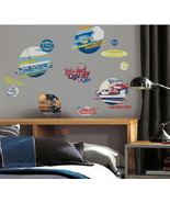 NASCAR Peel and Stick Wall Decals Appliques Stickers, NEW SEALED - $13.54