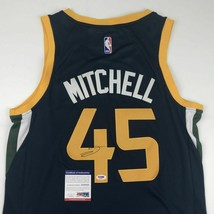 Autographed/Signed DONOVAN MITCHELL Utah Blue Basketball Jersey PSA/DNA ... - $249.99