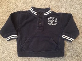 Oshkosh B'Gosh Athletics Boys 12 Month Sweatshirt Long Sleeve Navy Blue - $7.91