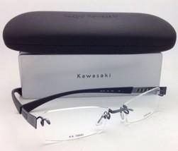 Nuevo sin Montura Kazuo Kawasaki Titanio Gafas Mp 706 55 - Azul Oscuro/Gris