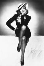 Marlene Dietrich B&W Leggy Glamour Pose 18x24 Poster - $23.99