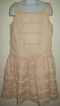 Gap Kids Girls Dress Size M 8 Lace Overlay Beige Cream Spring Summer  - $21.77