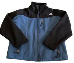 Snozu Boys Black Blue Winter Jacket Softshell Pockets Fleece Lined Mediu... - $16.93