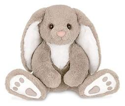 Bearington Boomer Plush Taupe and White Bunny Stuffed Animal, 10.5 inches - $23.78