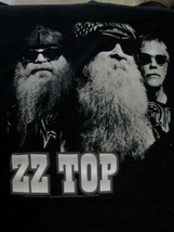 T-Shirt concert Powered by ZZ TOP tour 2012 faces Black and white Large - $39.95