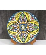 """Multicolor  Spanish Hand Painted Wall Plate 10.25"""" Yellow - $31.68"""