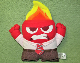 """Disney Store Anger Inside Out Stuffed Animal Doll 13"""" Pixar Red With Flames Toy - $11.88"""