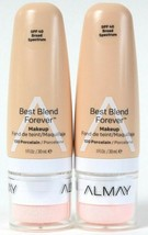 2 Count Almay 1 Oz Best Blend Forever 100 Porcelain SPF 40 Broad Spectru... - $22.99