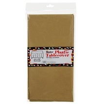 Gold Plastic Table Cover (Rectangular - 54in. W x 108in. L) - $5.88