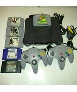 Nintendo 64 Console Bundle 2 Genuine Controllers Tight Sticks & Super Ma... - $126.18