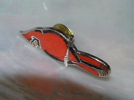 Vintage Red Enamel Cardinal Bird Silvertone Hat Pin Tie Tac  – 1 and 3/8... - $8.59