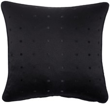 "Jacquard Check Black 22"" 55CM Piped Cushion Cover - $8.34"