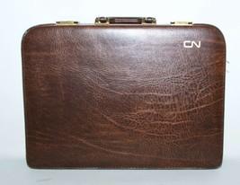 Vintage Stradellina CN Canadian National Business Briefcase Document  Brown - $49.50