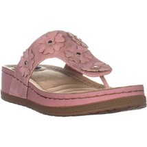 White Mountain Cardella Wedge Thong Sandals, Pale Pink - $27.99