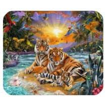 Mouse Pad Tiger Couple Beautiful Animal Editions In Jungle Fantasy - $113,93 MXN