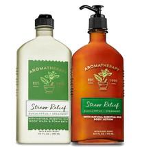 Bath & Body Works Aromatherapy Eucalyptus Spearmint Body Lotion + Body Wash Set - $32.95