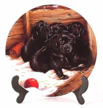 Danbury Mint Game Over Playful Puppies collection John Silver Dog Plate ... - $37.17