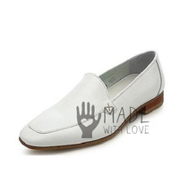 Handmaded Men's White leather moccasins, Men White dress  customize shoes - $159.99+